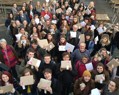Foundation Diploma in Art & Design group shot at art for all event
