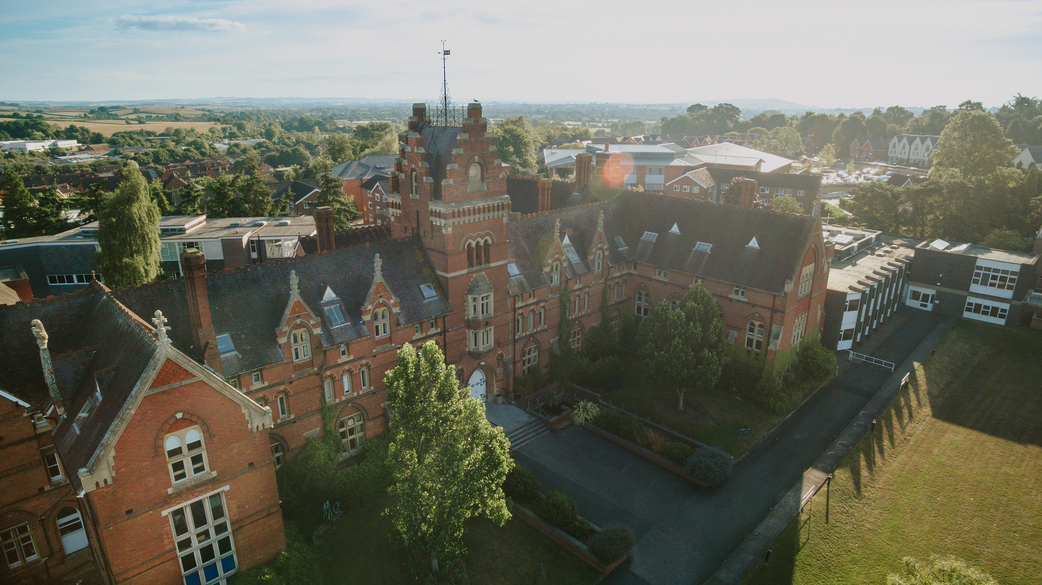Drone photography of our College Road Campus